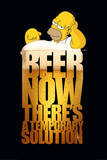 Simpsons - homer beer solution Posters