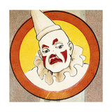 A Clown Wearing a Hat Giclee Print