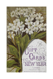 Front Cover Of a Set Of New Year Greetings Cards With a Floral Decoration and Lilac Frame Giclee Print by W. Dickes
