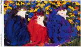 3 Cats Posters van Walasse Ting