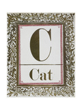 Letter C: Cat. Gold Letter With Decorative Border Giclee Print