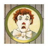 A Clown With Red Hair Giclee Print