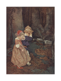 Hansel et Gretel Reproduction procédé giclée par Jessie Willcox-Smith