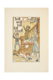 Rhyming Words Ending in the Letter L. Children and a Butler. the Golden Primer. Giclee Print by Walter Crane