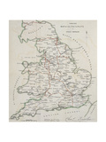 Railway Map Giclee Print