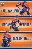Edmonton Oilers Trio NHL Sports Poster Posters
