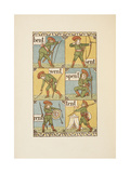 Rhyming Words Ending in the Letter T. a Boy With a Bow and Arrow. the Golden Primer. Giclee Print by Walter Crane