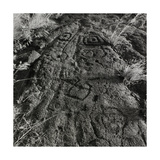 Face Carved Into Sand Bank Giclee Print by Fay Godwin