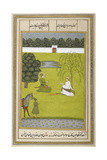 Two Figures Sitting. a Figure With a Horse Giclee Print by  Govardhan