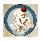 A Clown Wiping a Tear From His Eye Lámina giclée