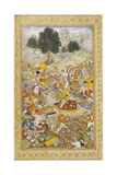 Army in Battle Against the Army Of Rana Sanga at Kanvaha (Kanusa) Giclee Print by  Mahesh