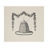 A Beehive With Floral Garland Giclee Print by Thomas Bewick