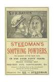 Advertisement For Steedman's Smoothing Powders and Harris' Polishing Paste Giclee Print by Isabella Beeton