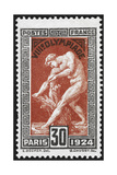 Statue Of Milan De Crotone. France 1924 Olympic Games 30 Centimes, Unused Giclee Print