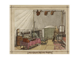 Interior Of My Tent. High Ground. Bangalore, 1863 - 1868 Giclee Print by Harold Malet