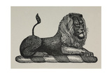 A Lion Giclee Print by Thomas Bewick