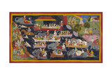 Bharata and the Army Cross the Ganges Giclee Print