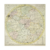Map Of Bath Giclee Print by B. Donne