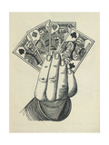 Playing Cards Giclee Print