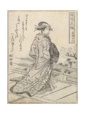 Kabuki Actor Giclee Print by Shokosai Hanbei