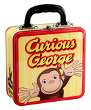 Curious George Square Tin Lunch Box Lunch Box
