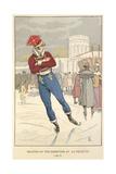 Skating at La Villete Giclee Print
