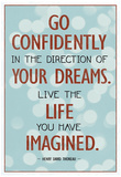 Live the Life You Have Imagined Thoreau Quote Art Print Poster Plakát