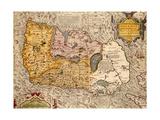 Map Of Ireland Giclee Print