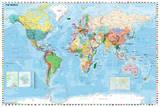 World Map - english Posters