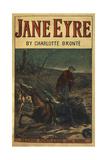 Edward Rochester With His Fallen Horse, in Front Of Jane Eyre Giclée-Druck von Charlotte Bronte