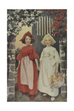 Two Young Girls Giclee Print by Jessie Willcox-Smith