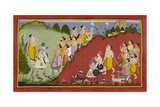 Rama Sets Out To Mithila Giclee Print