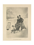 An Old-fashioned Winter Giclee Print by H. Stevens