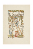 A Title Page For the Golden Primer. a Child Is On a Ladder, Picking Apples Frpm a Tree Giclee Print