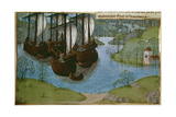 King Edward I Returns From Gascony Giclee Print by Jean de Wavrin