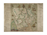 Map Of Ulster Giclee Print by Francis Jobson