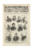 Portraits Of Various Union Generals, Including Sherman and Grant, Landing at Pittsburgh Giclee Print