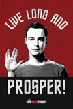 Sheldon Live Long and Prosper Big Bang Theory Television Poster Obrazy