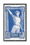The Victor. France 1924 Olympic Games 50 Centimes, Unused Giclee Print