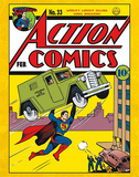 Superman Action Comics Cover Comics Tin Sign Tin Sign