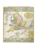 Map Of Britain Giclee Print