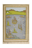 Various Ships and Boats. People Swimming. a Sea Serpent Giclee Print by  Govardhan