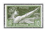 An Athlete Wearing a Laurel Wreath. France 1924 Olympic Games 10 Centimes, Unused Giclee Print