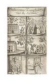 Six Images Showing Supernatural and Demonic Activities Giclee Print by Joseph Glanvill
