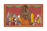 Kumbhakarna Is Fed Giclee Print by Sahib Din