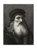 Portrait Of Leonardo Da Vinci Giclee Print by  Laguillermie