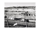 New Motorway Works, Dover Cliffs 1990 Giclee Print by Fay Godwin