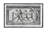 A Group Of Athletes Running, Greece 1906 Olympic Games, 1 Drachma, Unused Stamp Design Reproduction procédé giclée