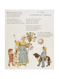 In the Luxembourg Gardens. Children With Their Mother. Colour Illustration From 'Abroad' Giclee Print by Ellen Houghton