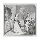 Engraving Of a Woman Being Proposed To by a Man On One Knee While Another Walks Away Giclee Print by Thomas Bewick